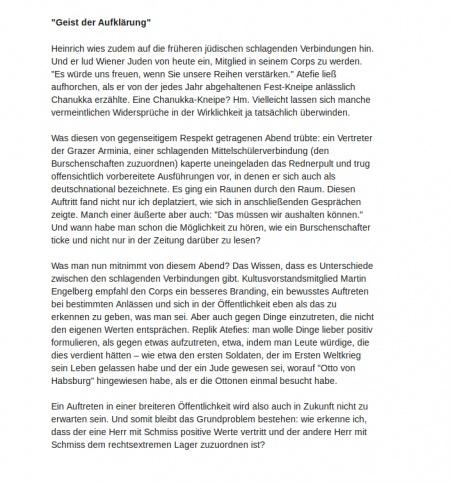 Wiener Zeitung: Chanukka-Kneipe (3/4)